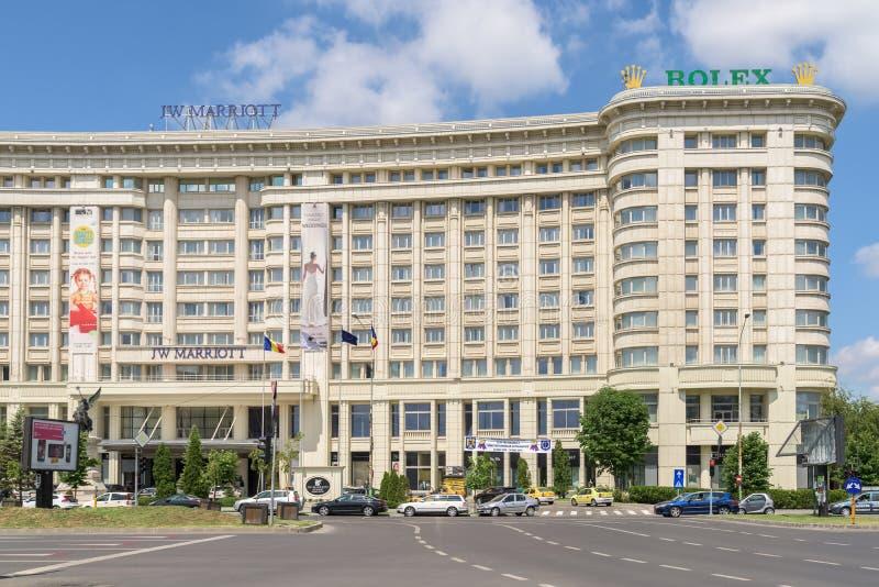Гостиница Jw Marriott Бухареста грандиозная стоковая фотография rf
