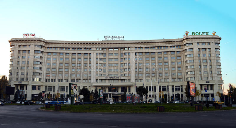 Гостиница Jw Marriott грандиозная, Бухарест, Румыния стоковое фото rf