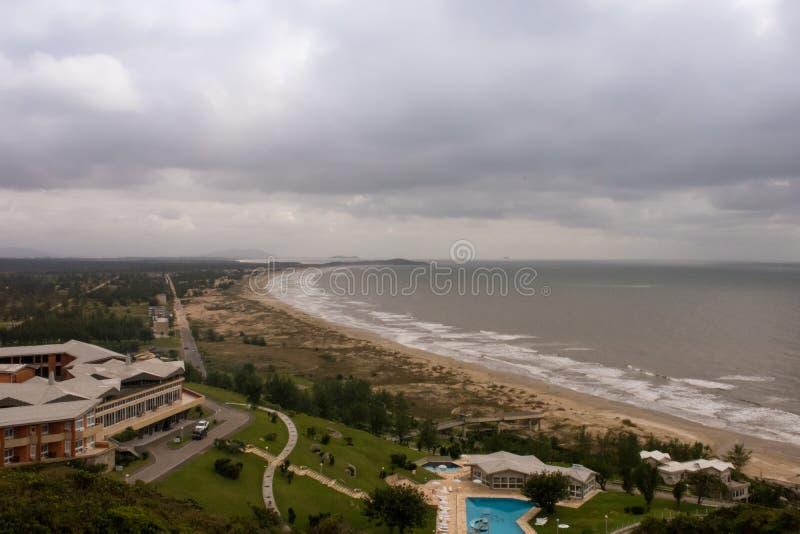 Гостиница Laguna туристская - Санта-Катарина - Бразилия стоковое фото rf