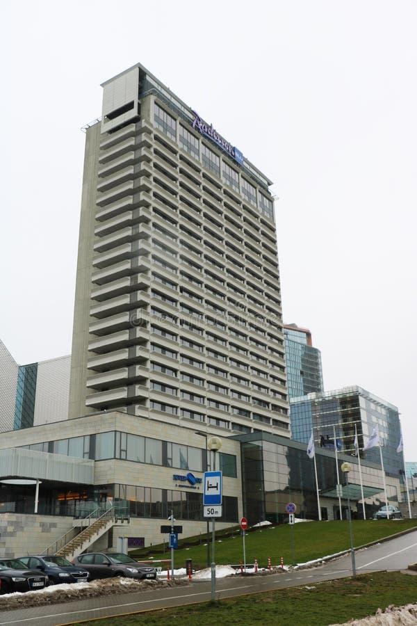 Гостиница Lietuva Radisson голубая стоковое фото
