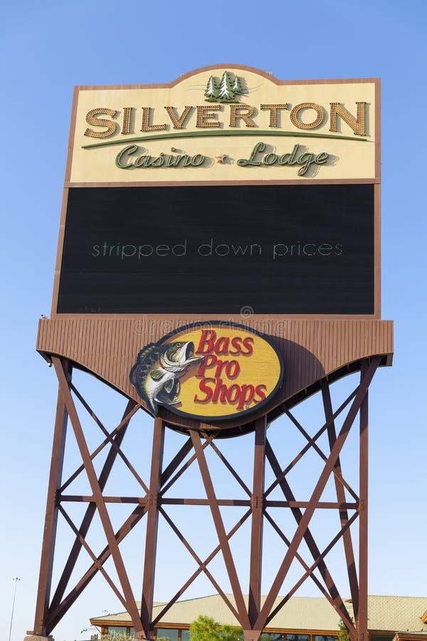 Гостиница Silverton подписывает внутри Лас-Вегас, NV 18-ого мая 2013 стоковые фотографии rf
