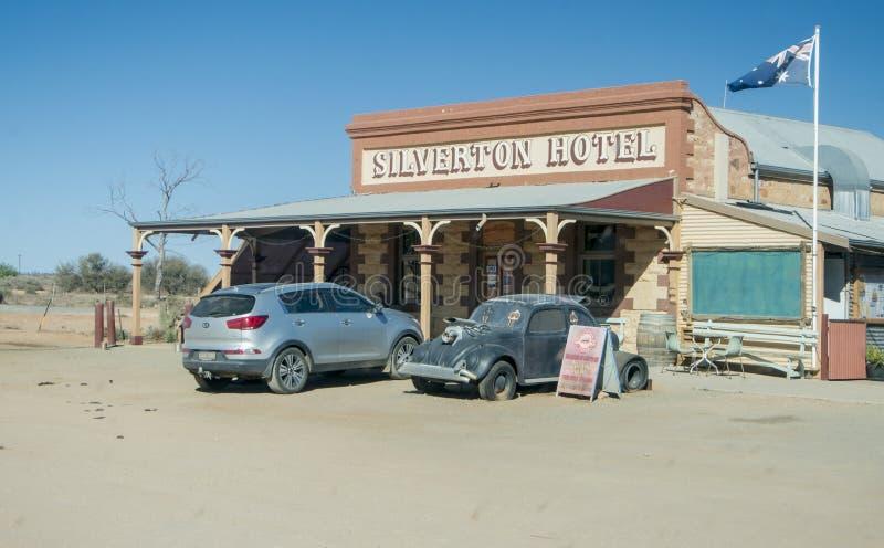 Гостиница Siverton, захолустье, Австралия стоковые изображения rf