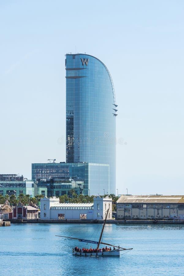 Гостиница w, Барселона стоковое изображение rf