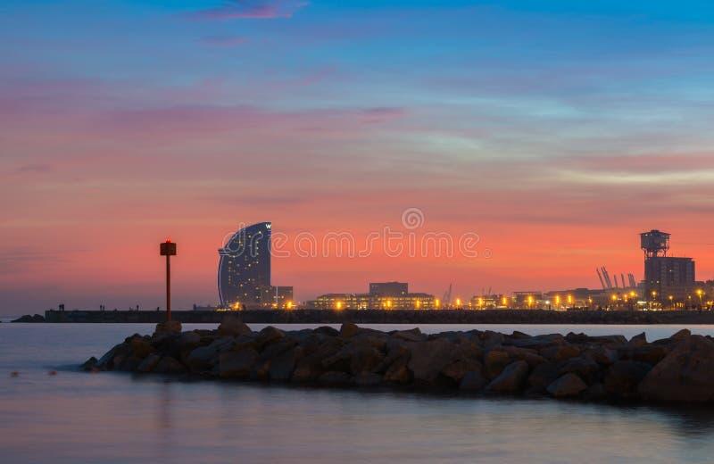 Гостиница w в Барселоне стоковое фото rf