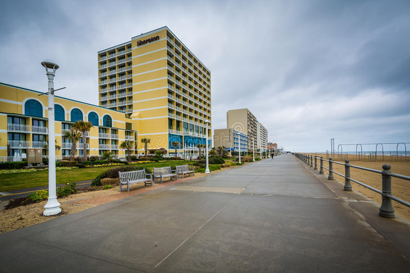 Download Гостиницы променада и Highrise в Virginia Beach, Вирджинии Редакционное Изображение - изображение насчитывающей сценарно, выпуклины: 81801010