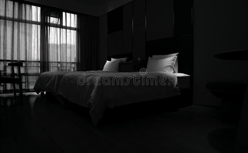 Гостиничный номер с светом окна стоковое изображение rf