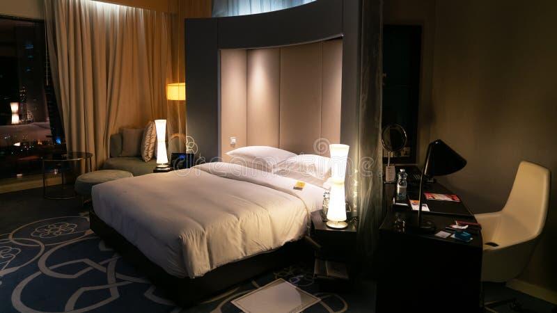 Гостиничный номер w в Дохе, Катаре стоковое фото rf