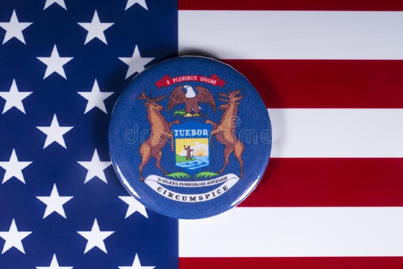 Государство Мичигана в США стоковые изображения rf