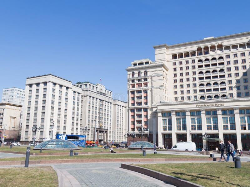 Государственная Дума и гостиница 4 сезонов стоковые изображения