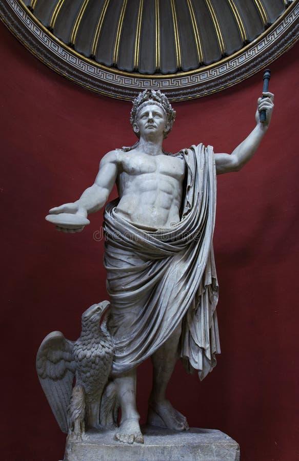 Государство Ватикан Рим статуи Claudius императора стоковое фото rf
