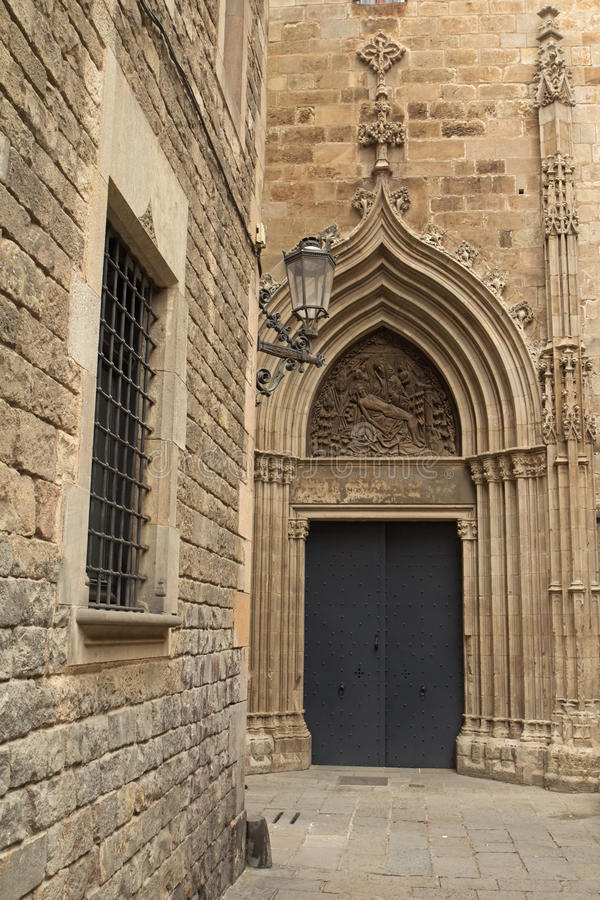 Готическая Барселона (Catalunya, Испания) стоковые изображения rf