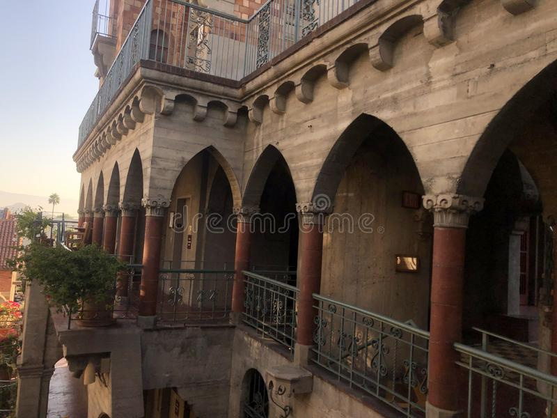 Готические арки и колонны стоковая фотография