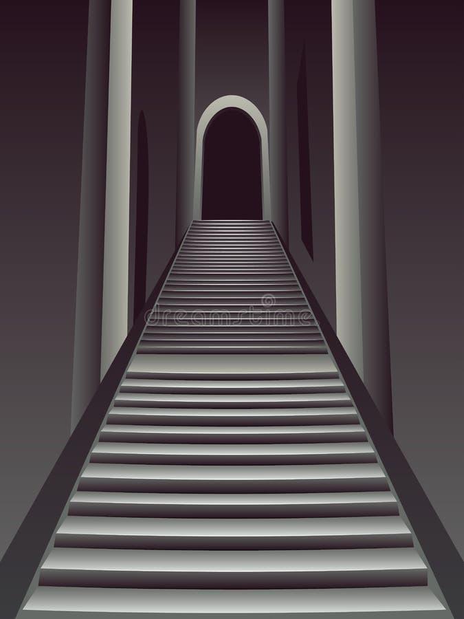 Готические лестницы внутренние бесплатная иллюстрация