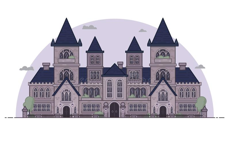 Готический дом строения стиля стоковые изображения rf