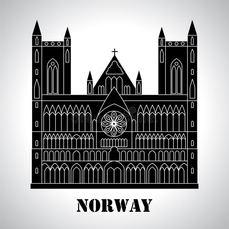 Готический значок собора Nidaros иллюстрация вектора