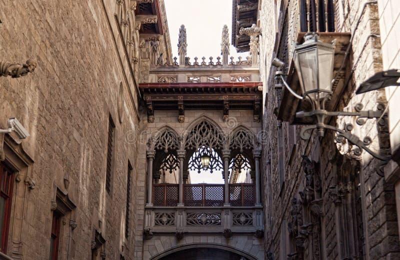Готический квартал в Барселоне стоковое изображение rf
