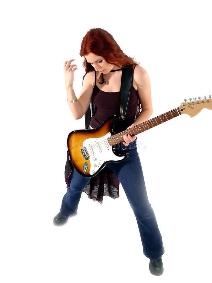 готский гитарист стоковое изображение rf