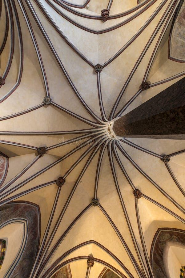 Готский свод в замоке Malbork стоковая фотография
