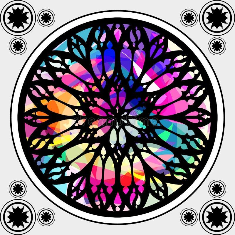 Готское окно цветного стекла бесплатная иллюстрация