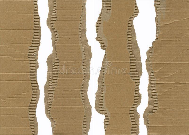 гофрированный картон сорванным стоковые изображения rf