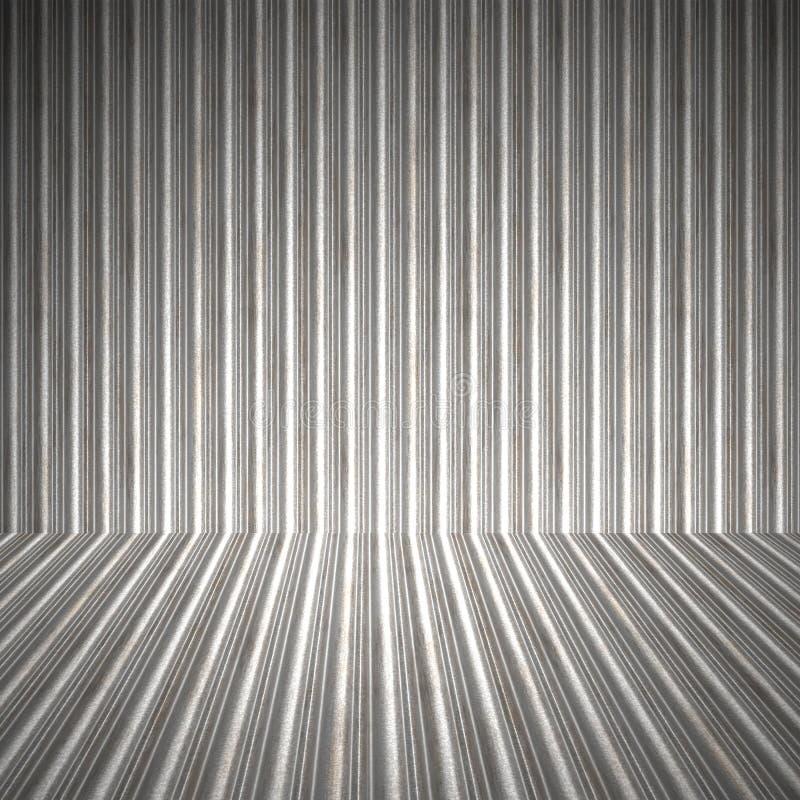 гофрированный нутряной металл иллюстрация вектора