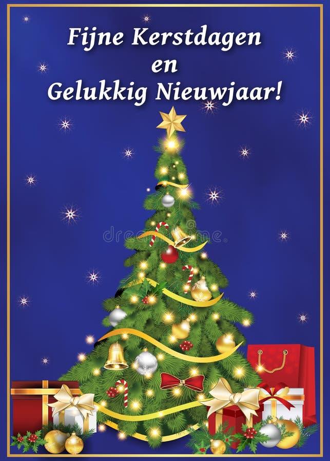 Голландская поздравительная открытка на зимний отдых бесплатная иллюстрация