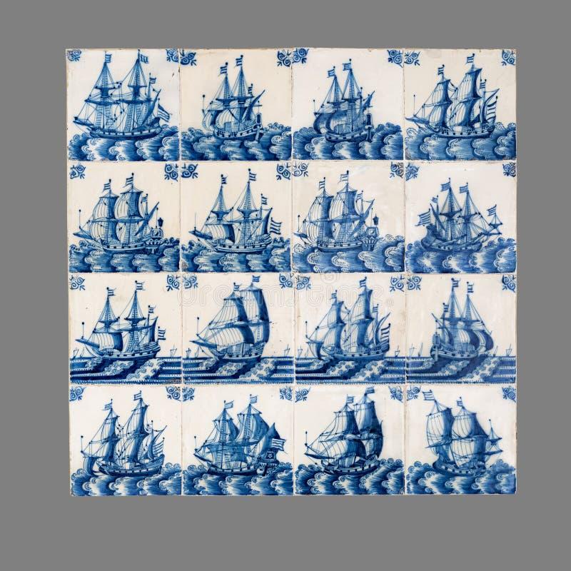 Голландская плитка от шестнадцатого к XVIII веку стоковые изображения