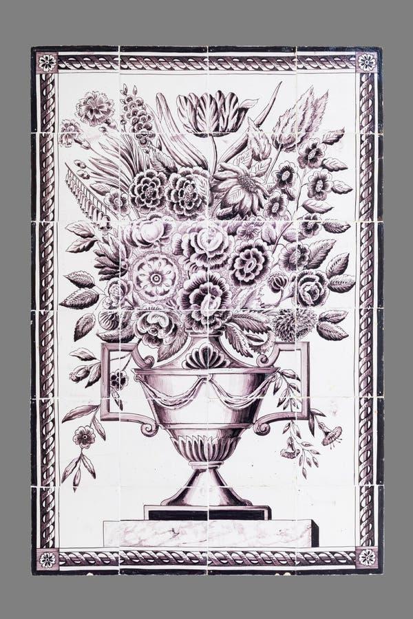 Голландская плитка от шестнадцатого к XVIII веку стоковые фотографии rf