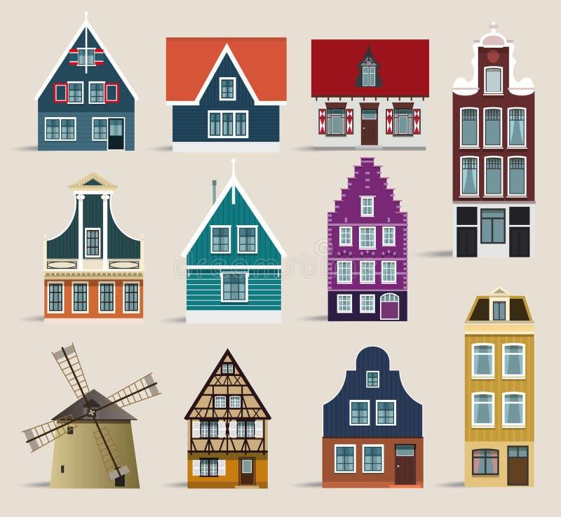 голландские дома бесплатная иллюстрация