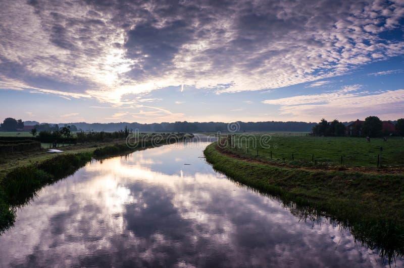 Голландские туманные утра стоковые фотографии rf