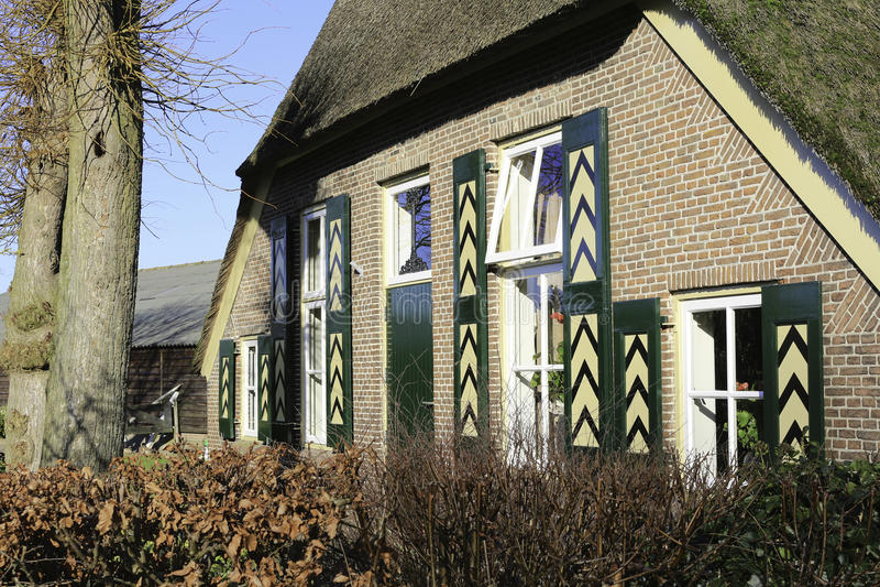 Голландский сельский дом стоковая фотография