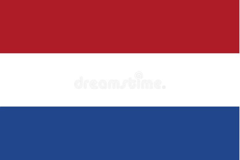голландский флаг иллюстрация вектора