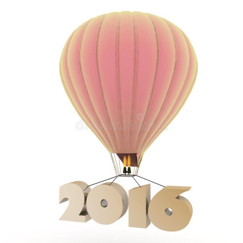 2016 год летает на воздушный шар бесплатная иллюстрация