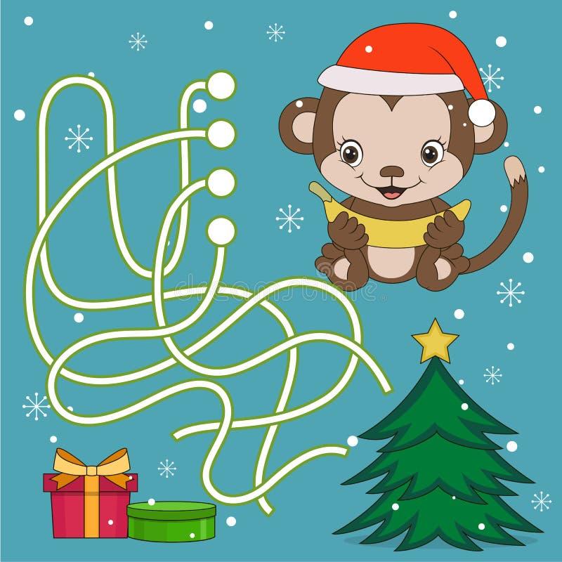 Год игры лабиринта обезьяны бесплатная иллюстрация