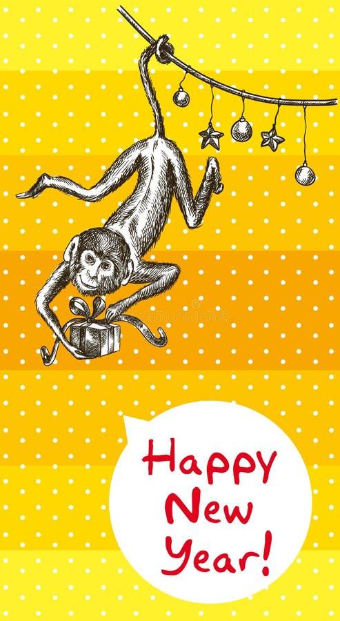 Год обезьяны огня бесплатная иллюстрация