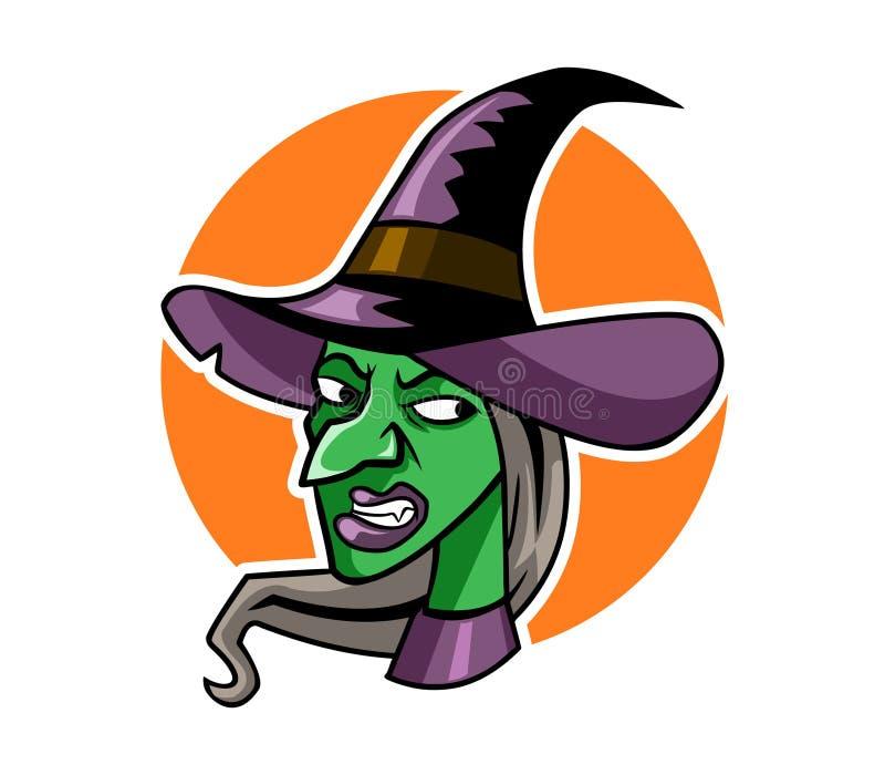 Голова ведьмы иллюстрация вектора