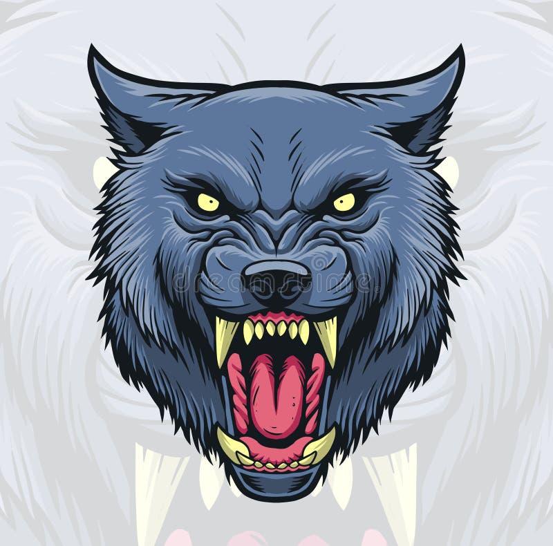 Голова волка иллюстрация вектора