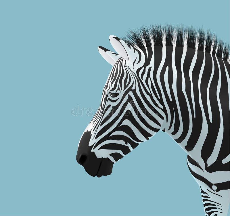 Голова зебры иллюстрация вектора