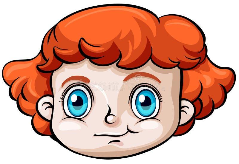 Голова кавказской девушки бесплатная иллюстрация