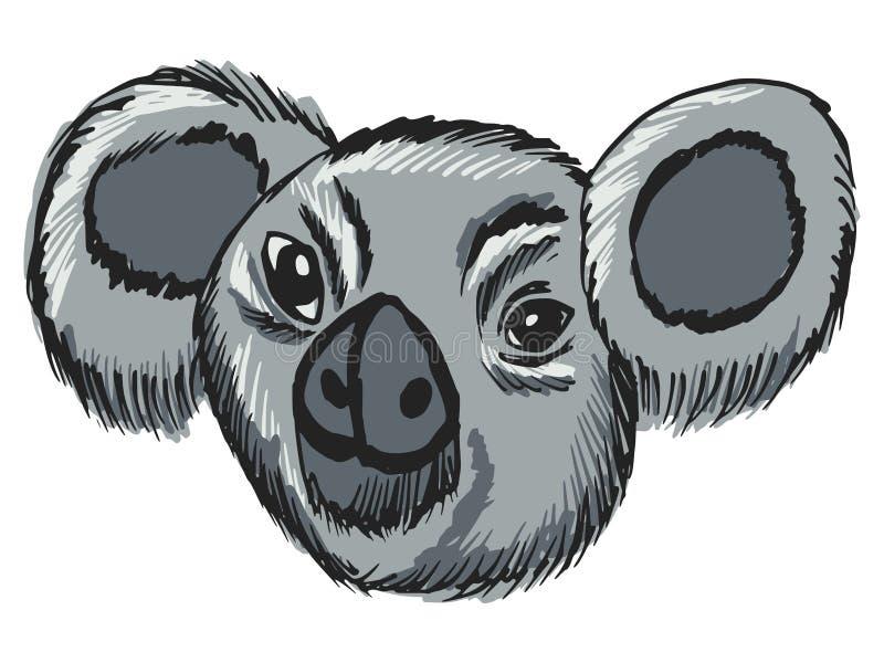 Голова коалы иллюстрация вектора