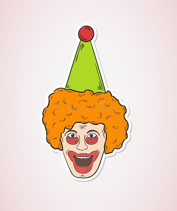 Download Голова клоуна иллюстрация штока. иллюстрации насчитывающей утеха - 41659844