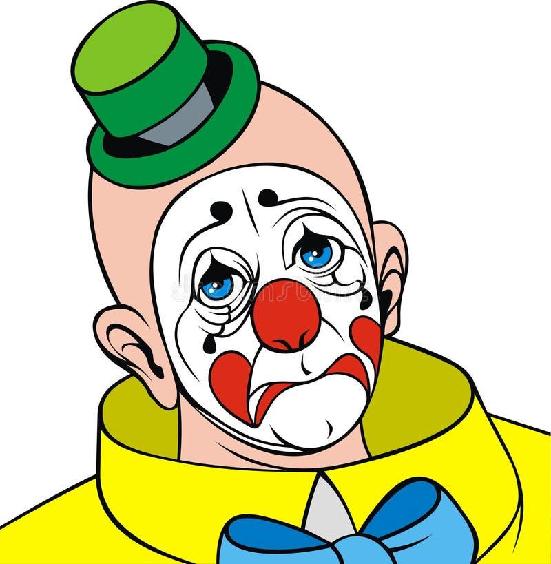 Голова клоуна иллюстрация вектора