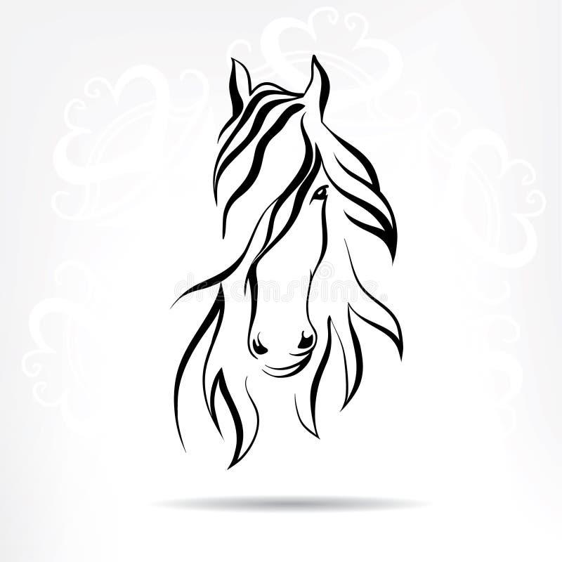 Голова лошади запаса на снежной предпосылке бесплатная иллюстрация