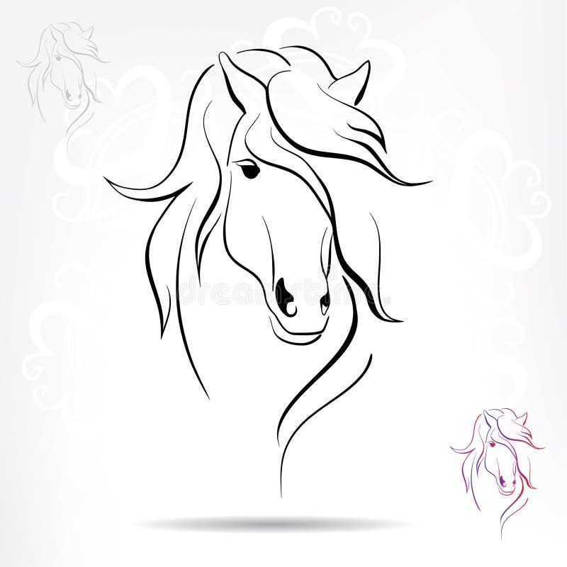 Голова лошади на снежной предпосылке бесплатная иллюстрация