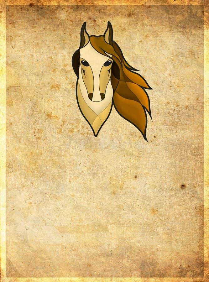 Голова лошади с рамкой иллюстрация штока