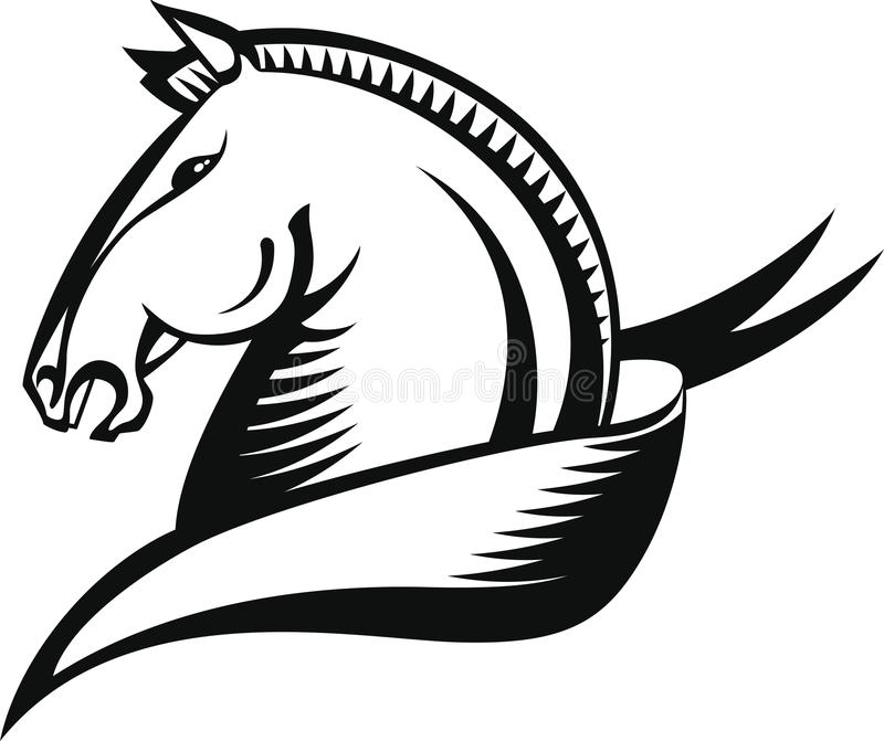 Голова лошади иллюстрация штока