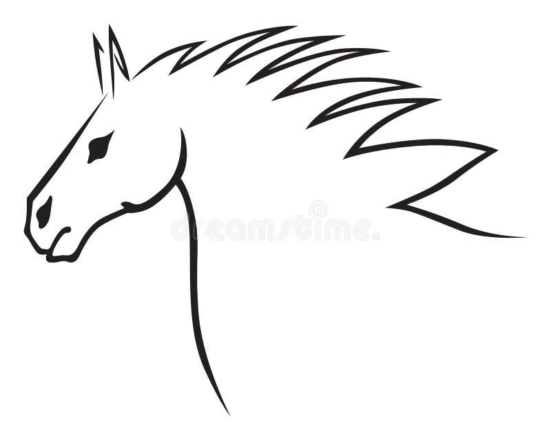 Download Голова лошади иллюстрация вектора. иллюстрации насчитывающей красивейшее - 33736957