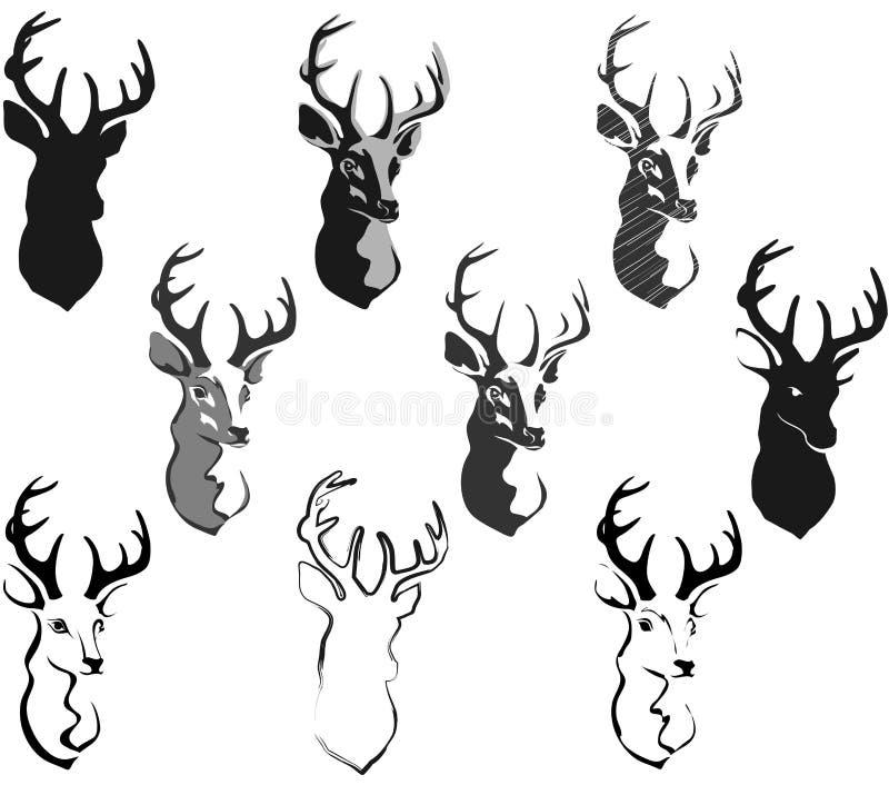 Голова оленей иллюстрация штока