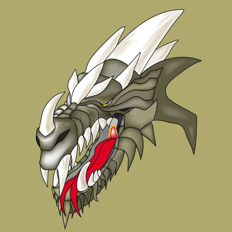 Голова дракона стоковое фото rf