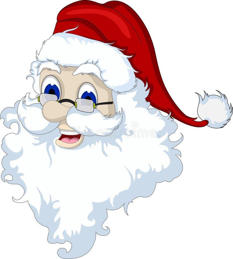Голова Санта Клауса изолированная для вас дизайн иллюстрация штока